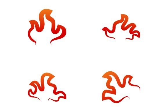 Print on Demand: Flame Logo Design Template Graphic Logos By pnajlab