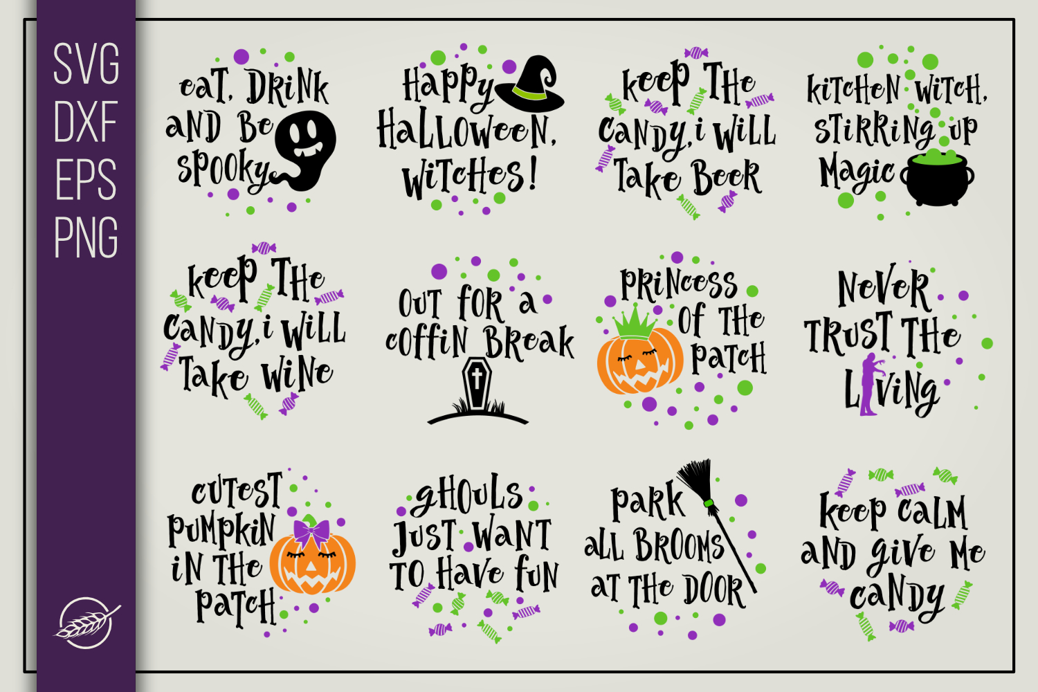 Funny Halloween Quotes SVG File