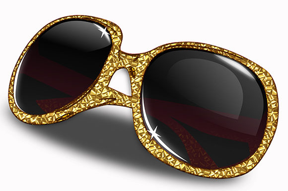 Print on Demand: Golden Eye Glasses Frames Decoration Graphic Illustrations By Chiplanay