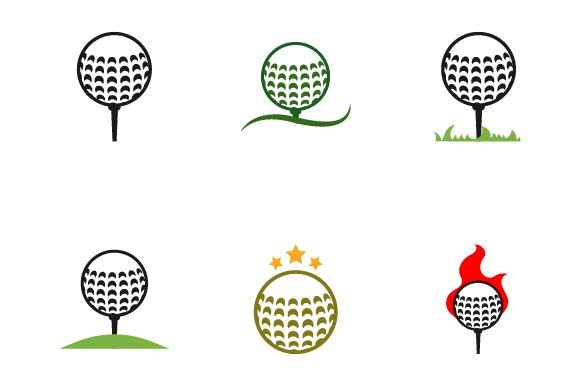 Print on Demand: Golf Ball Logo Design Template Graphic Logos By pnajlab