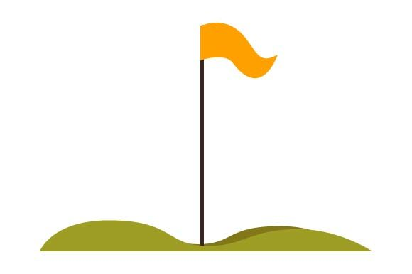 Print on Demand: Golf Course Flags Icon Graphic Icons By pnajlab