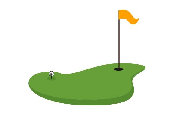 Print on Demand: Golf Course Icon Graphic Icons By pnajlab