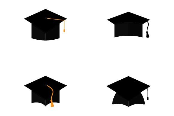 Print on Demand: Graduation Hat Icon Set Graphic Icons By pnajlab