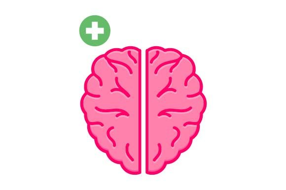 Print on Demand: Health Brain Icon Graphic Icons By pnajlab