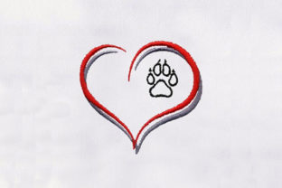 Heart Shape Animal Quotes Embroidery Design By DigitEMB