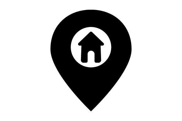 Print on Demand: Home Map Pointer Icon Graphic Icons By pnajlab
