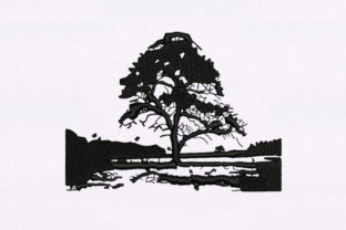 Isolated Tree Machine Forest & Trees Embroidery Design By DigitEMB