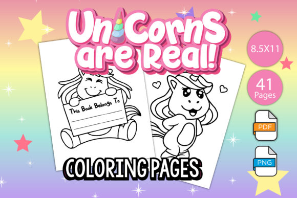 Print on Demand: KDP Interiors - Unicorn Coloring Pages Graphic Coloring Pages & Books Kids By IsaraDesign