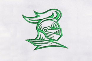 Knight Helmet Military Embroidery Design By DigitEMB