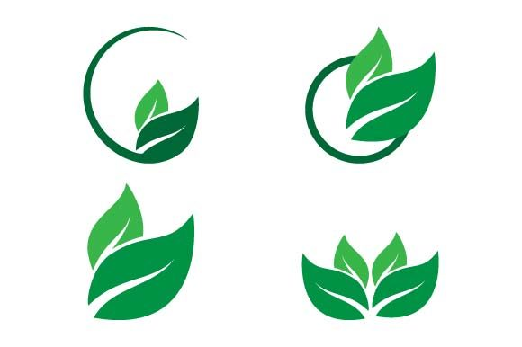 Print on Demand: Leaf Logo Template Graphic Logos By pnajlab