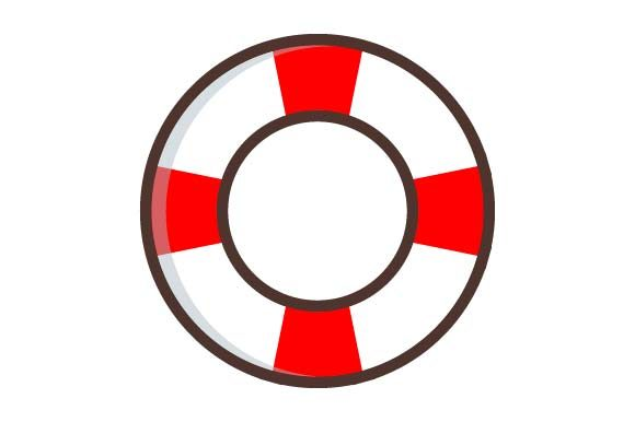 Print on Demand: Life Buoy Icon Graphic Icons By pnajlab