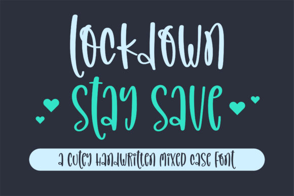 Print on Demand: Lockdown Stay Save Manuscrita Fuente Por BitongType