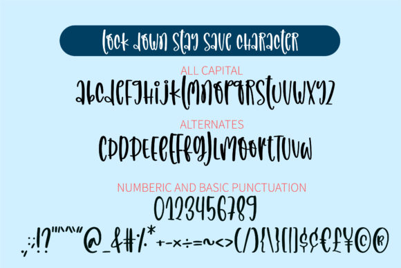 Lockdown Stay Save Font Font