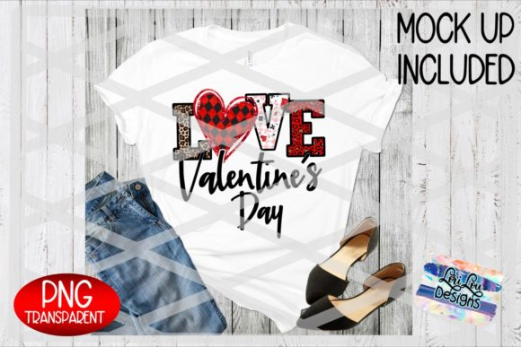 Print on Demand: Love Valentine's Day Sublimation PNG Graphic Illustrations By Lori Lou Designs