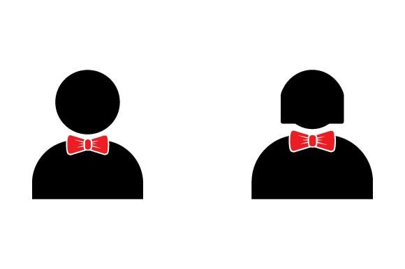 Print on Demand: Men and Women Wearing Ties Icon Graphic Icons By pnajlab