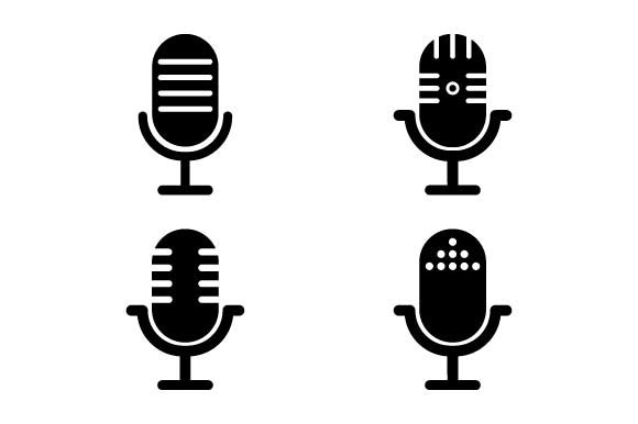 Print on Demand: Microphone Icon Set Graphic Icons By pnajlab