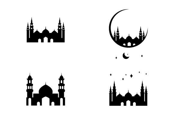Print on Demand: Mosque Icon Set Graphic Icons By pnajlab
