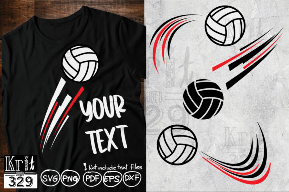 Motion Volleyball Movement SVG Graphic Crafts By Krit-Studio329