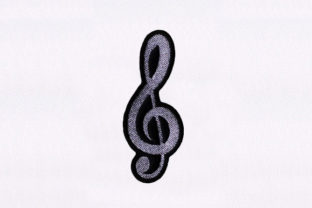 Notation Symbol Music Embroidery Design By DigitEMB