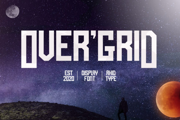 Print on Demand: Over'Grid Display Font By RHIDTYPE
