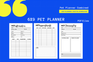 Print on Demand: Pet Planner 6x9 PDF Format KDP Planner Graphic KDP Interiors By MarinovaDesigns