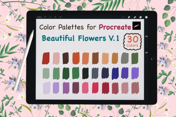 Procreate Color Palette-BeautyFlowerV.1 Graphic Add-ons By jennythip