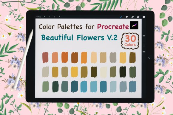 Procreate Color Palette-BeautyFlowerV.2 Graphic Add-ons By jennythip