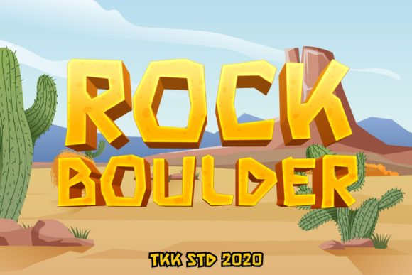 Print on Demand: Rock Boulder Display Font By tokokoo.studio