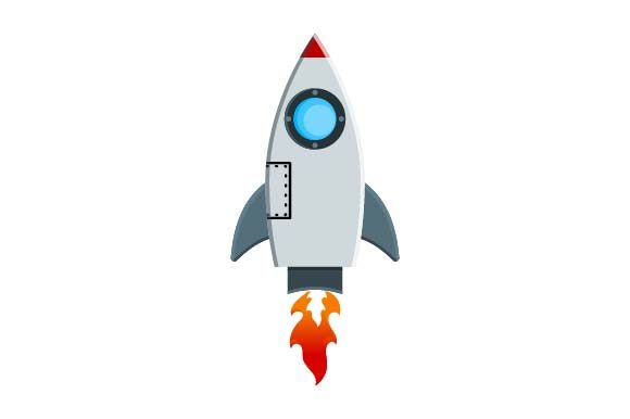 Print on Demand: Rocket Icon Graphic Icons By pnajlab