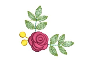 Rose Corner Floral & Garden Embroidery Design By carasembor