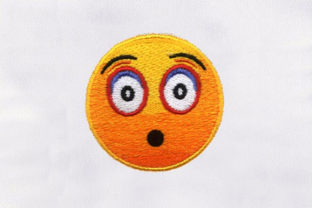 Shocked Emoji Face Friends Embroidery Design By DigitEMB