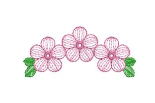 Simple Flowers Floral & Garden Embroidery Design By carasembor