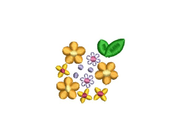 Small Flowers Floral & Garden Embroidery Design By carasembor
