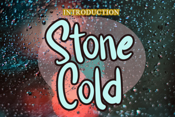 Print on Demand: Stone Cold Display Font By merge354