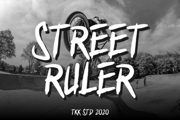 Print on Demand: Street Ruler Display Font By tokokoo.studio