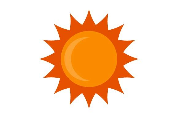 Print on Demand: Sun Icon Graphic Icons By pnajlab