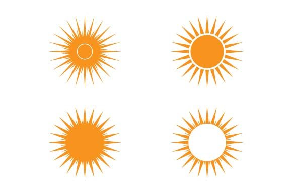 Print on Demand: Sun Icon Set Graphic Icons By pnajlab