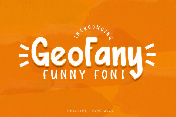 Print on Demand: The Geofany Display Font By RHIDTYPE