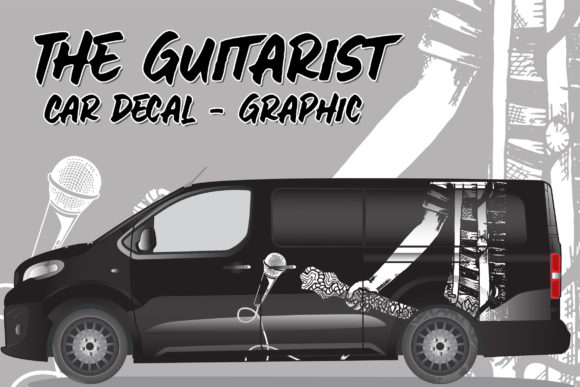 The Guitarist   Car Decal Graphic Graphic Illustrations By Gumacreative