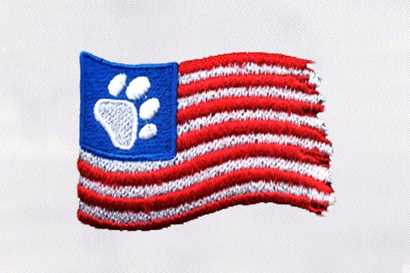 Usa Flag with Cat Paw Design Independence Day Embroidery Design By DigitEMB