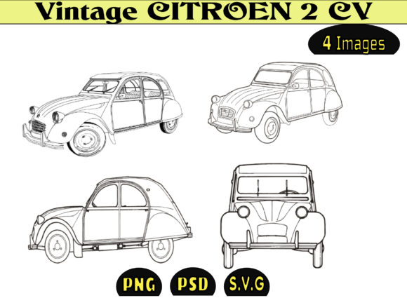 Print on Demand: VINTAGE CITROEN 2CV Graphic Illustrations By kdp Edition