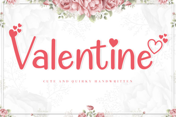 Print on Demand: Valentine Cute Display Fuente Por AEN Creative Studio