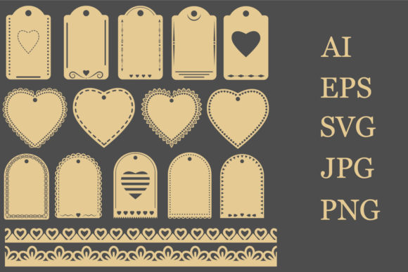 Print on Demand: Valentine's Day Label Templates Graphic Crafts By lesinka