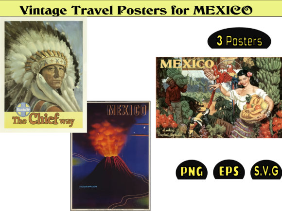 Print on Demand: Vintage Posters MEXICO Graphic Illustrations By kdp Edition
