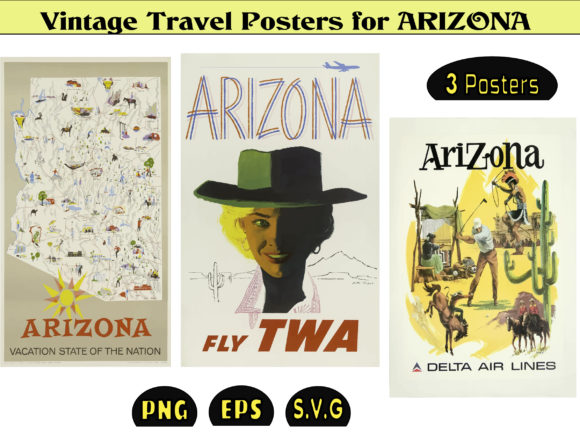 Print on Demand: Vintage Posters Usa Arizona Gráfico Ilustraciones Por kdp Edition