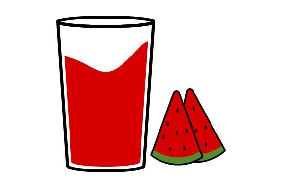 Print on Demand: Watermelon Juice Icon Graphic Icons By pnajlab