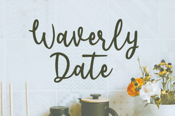 Print on Demand: Waverly Date Script & Handwritten Font By Sizimon