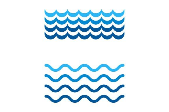 Print on Demand: Waves Icon Graphic Icons By pnajlab