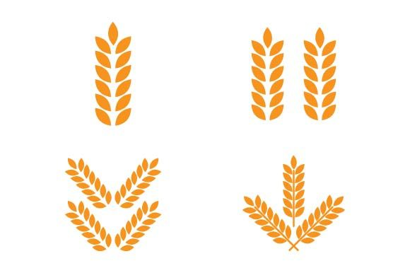 Print on Demand: Wheat Logo Design Template Graphic Logos By pnajlab