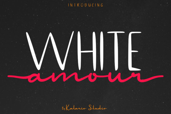Print on Demand: White Amour Script & Handwritten Font By Katario Studio